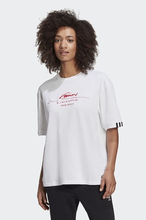 adidas Kadın Günlük Giyim T-shirt Oversized Tee Gd2976 0