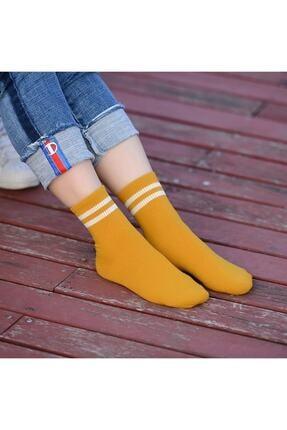 çorapmanya Kadın 6' Lı Karışık Renkli Çizgili Tenis Çorabı 2