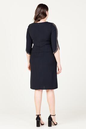 MI Kadın Siyah Uzun Kol Taşlı Elbise 20y..elb.71025.01 3