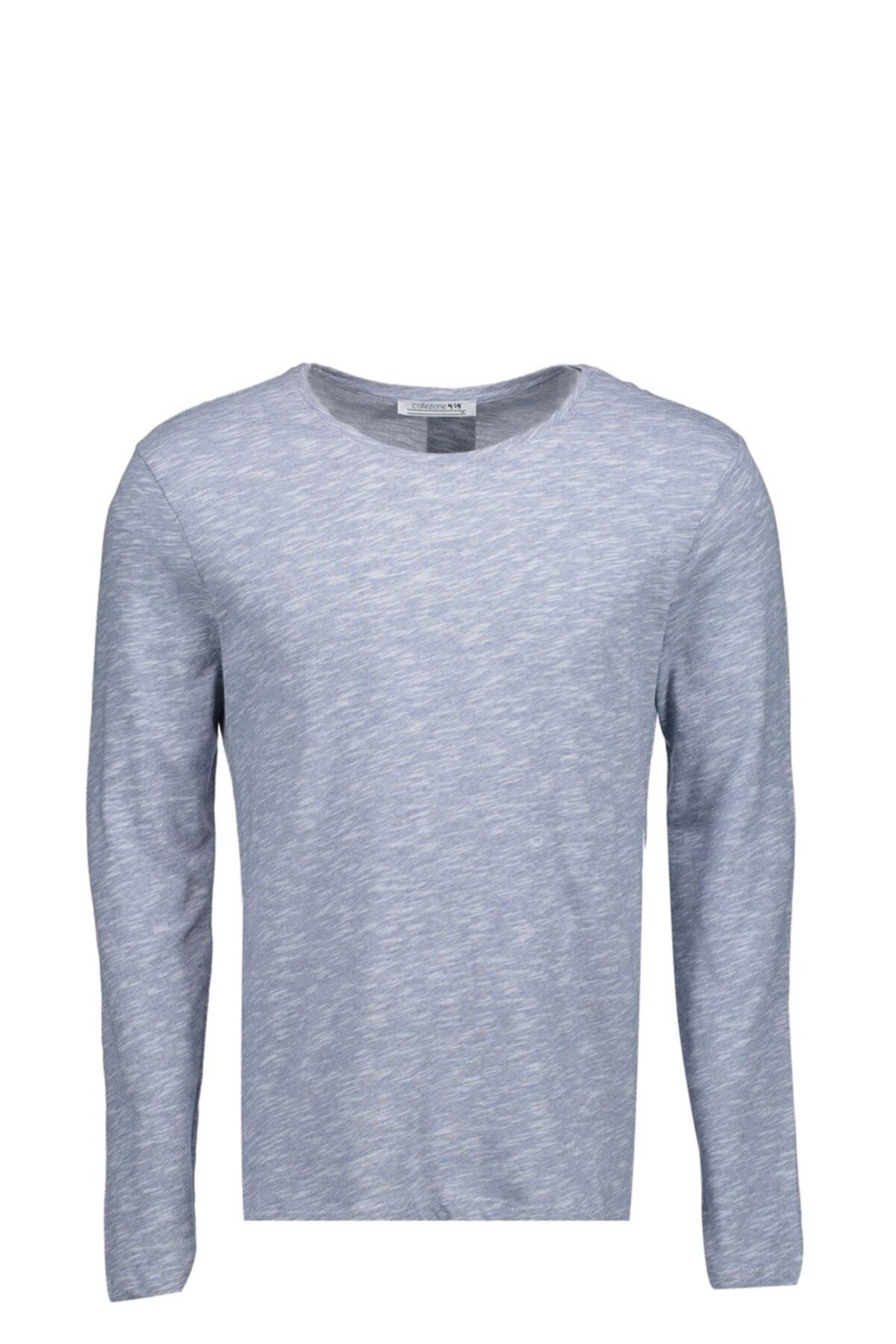 Collezione Mavi Erkek Mavi Spor Regular T-shirt Uzun Kol