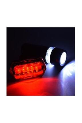 FBI Led Bisiklet Lambası Feneri Ön Far Arka Stop Işık Aydınlatma Seti 1