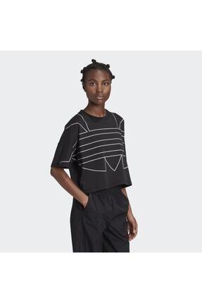 adidas Kadın Siyah Large Logo T-shirt 3