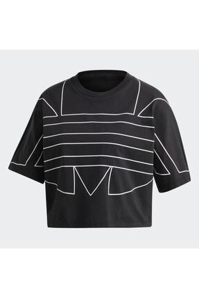 adidas Kadın Siyah Large Logo T-shirt 4