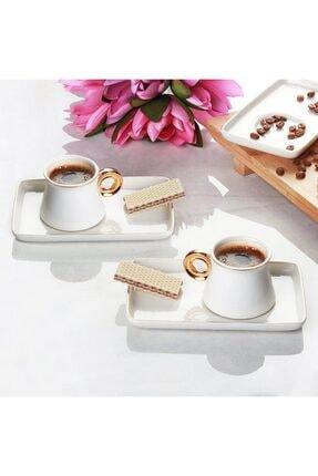 ACAR Beyaz Kahve Fincan Seti Can-009665 1