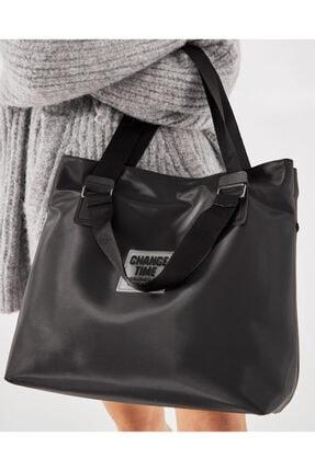 Shule Bags Patlı Kadın Omuz Shopper Çanta Vicky Siyah 3