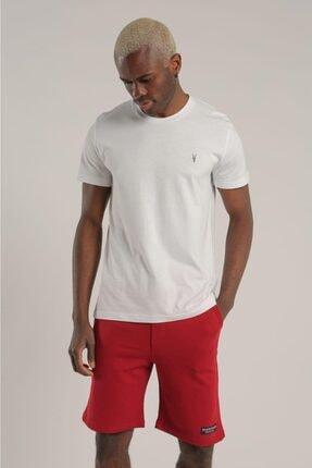AllSaints Erkek Beyaz Bisiklet Yaka T-shirt 1