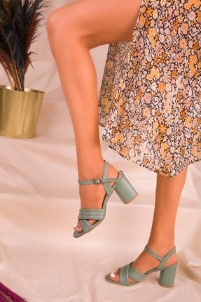 Soho Exclusive Yeşil Kadın Klasik Topuklu Ayakkabı 16098 2