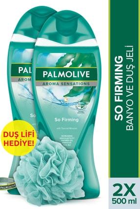 Palmolive Aroma Sensations So Firm Banyo Ve Duş Jeli 500 ml X 2 Adet Duş Lifi Hediye 0
