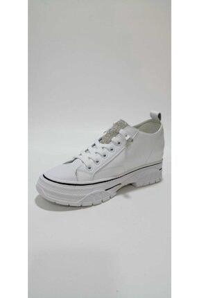 Guja Kadın Beyaz  Gizli Dolgu Topuklu Spor Ayakkabı 1