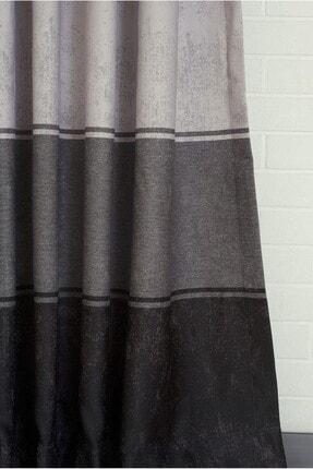 Massarelli Fon Perde Üç Renk Siyah-Gri Pilesiz 1