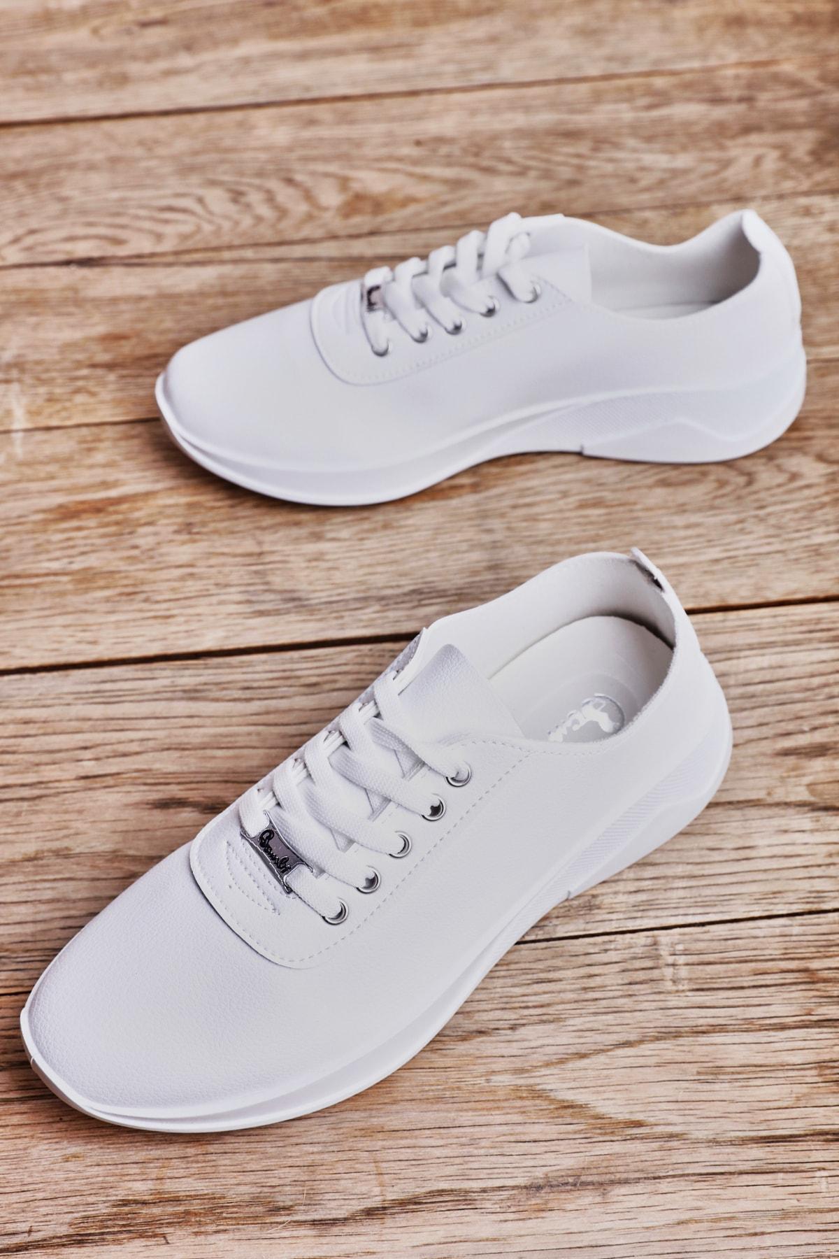Beyaz Kadın Sneaker K01543100009
