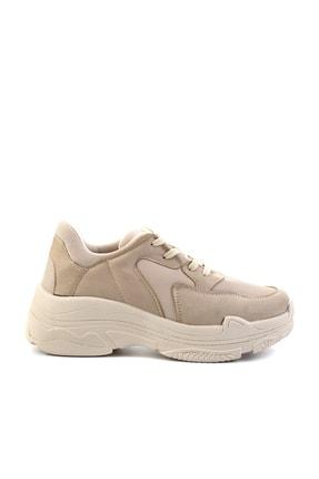 Bambi Bej Süet Kadın Sneaker K01836001065 1