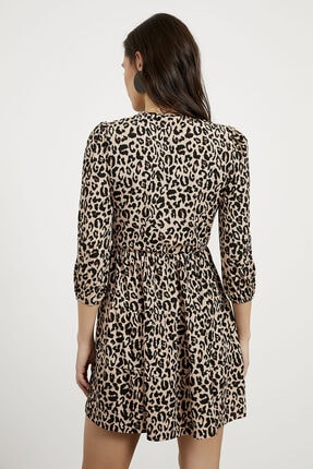 Arma Life Kadın Kahverengi Kruvaze Kaşkorse Elbise 4