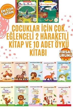 İş Bankası Kültür Yayınları Çocuklar Için Çok Eğlenceli 2 Hareketli Kitap Ve 10 Adet Öykü Kitabı 0