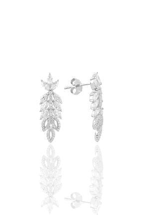 Söğütlü Silver Gümüş Rodyumlu Pırlanta Modeli Beyaz Altın Görünümlü Kolye Küpe Ve Yüzük Seti 2