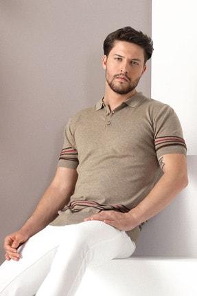 Ferraro Erkek Bej Polo Yaka Düğmeli Pamuk Triko Tshirt 0