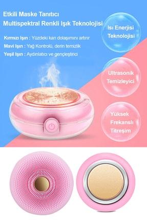 Xolo Smart Mask Ultrasonik Maske Uygulama Cihazı Işık Terapi Titreşimli Pembe Peeling Masaj Cihazı 2