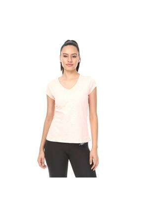 601nm20 Rdk Kadın V Yaka T-shirt Rosa - Somon - Xxl resmi