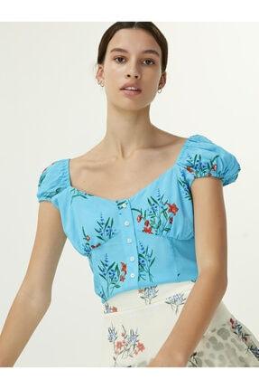 Twist Çiçek Desen Bluz 1