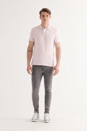 Avva Erkek Açık Pembe Polo Yaka Düz T-shirt A11b1146 4