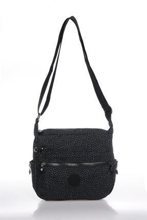 Smart Bags Smbk1056-0091 Puantiyeli/siyah Kadın Çapraz Çanta 0