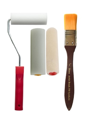 Desenartist Brush İz Bırakmayan İpek Fırça + 10cm Sünger Rulo Seti + Yedek Başlık + Kadife Vernik Rulosu 0