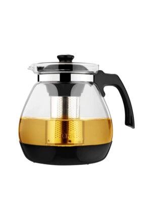 Oranj Life 700 ml Çelik Süzgeçli Cam Demlik Isıya Dayanıklı Cam Çaydanlık Bitki Çayı Demliği 1