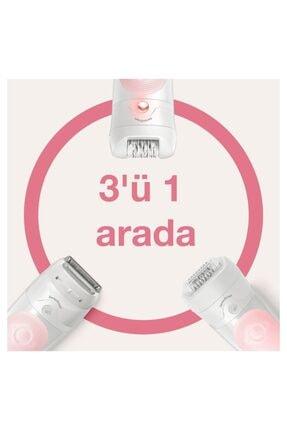 Braun Silk-épil 5 5620 Sensosmart Kablosuz Islak & Kuru Kullanım 5 Ek Parçalı 3'ü 1 Arada Epilatör 4