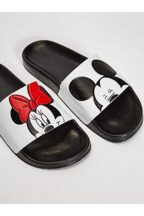 LC Waikiki Minnie Mouse Kadın Beyaz J5E Terlik 4
