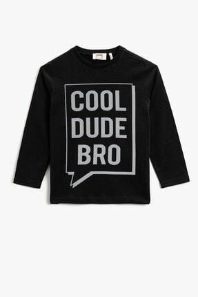 Koton Erkek Çocuk Pamuklu Yazılı Baskılı Uzun Kollu T-shirt 1kkb16969ok 0