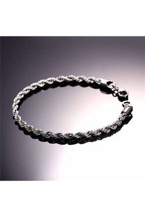 Takı Dükkanı Erkek Beyaz Halat Burgulu Çelik Bileklik Künye Nck15 0