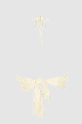 TRENDYOLMİLLA Ekru Aksesuar Detaylı Bikini Üstü TBESS21BU0207 4