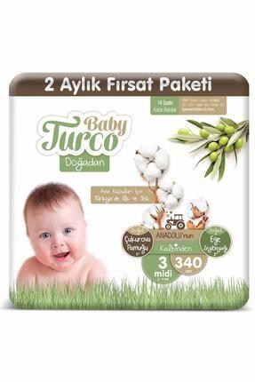Baby Turco Doğadan 3 Numara Midi 340 Adet 0