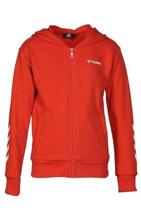 HUMMEL Çocuk Olivia Fermuarlı Kırmızı Sweatshirt 920995-3840 1