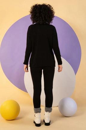 NARE Kadın Triko Siyah Pantolon Kazak Takım 1