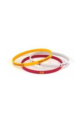Galatasaray Gs Üçlü Bileklik Beyaz, Lisanslı Ürün 0