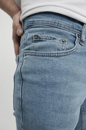MODAMESTO Erkek Açık Mavi Slim Fit Likralı Dar Paça Kot Pantolon 3
