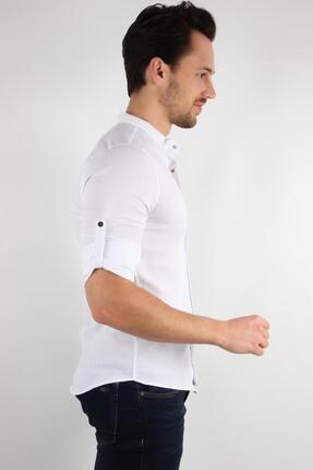 ALEXANDERGARDI Hakım Yaka Slim Fit Gömlek, Beyaz (E20-611100) 3