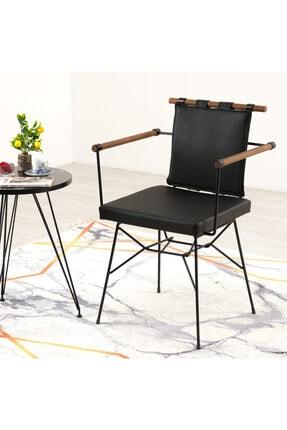 Mars Mobilya Penyez Siyah Tel Sandalye 0