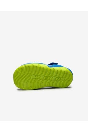 Skechers SIDE WAVE Küçük Erkek Çocuk Mavi Sandalet 4