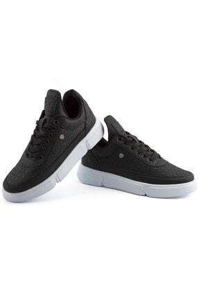 L.A Polo Erkek Siyah Renk Beyaz Taban Spor Ayakkabı 017 2