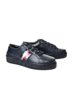 Tommy Hilfiger Kadın Lacivert Sneaker FW0FW03704 4