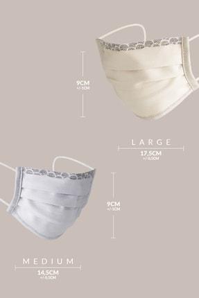 Maisonette Beyaz Yıkanabilir Pamuklu Yüz Maskesi 5'li Paket 2