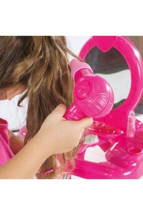 Dolu Barbie Ayaklı Makyaj Masası Ve Sandalye Seti 3
