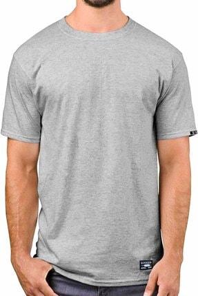 Sivugin Açık Ve Koyu Gri Pamuklu Yuvarlak Yaka Kısa Kol Erkek Spor T-shirt - 2'li Paket 2