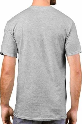 Sivugin Açık Ve Koyu Gri Pamuklu Yuvarlak Yaka Kısa Kol Erkek Spor T-shirt - 2'li Paket 3