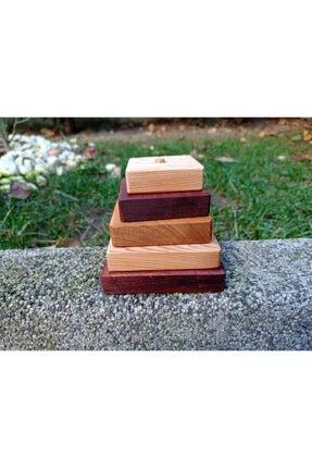 CİHANGİR OYUNCAK ATÖLYESİ Doğal Ahşap Piramit Oyuncak 3