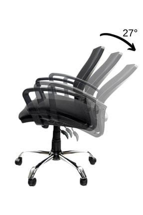 GREY Ev Ofis Çalışma Sandalyesi Bilgisayar Koltuğu 2