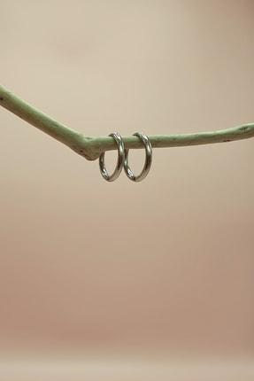 S&A Accessories Çelik Halka Küpe Küçük Boy Gümüş Rengi 1