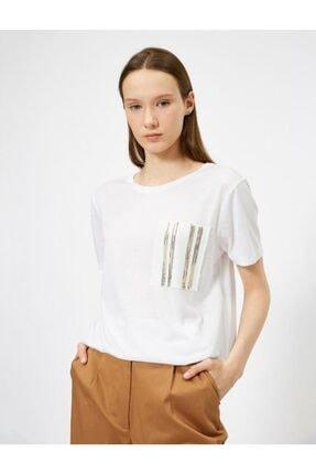 Koton Pullu Kadın Tişört 0
